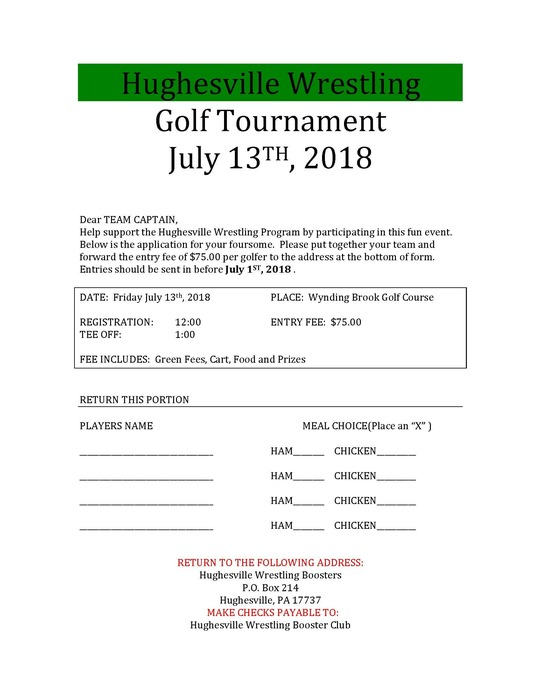 Wrestling Golf Tournament