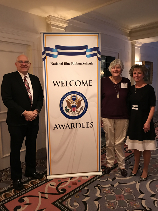 Representing the students and staff at the 2018 National Blue Ribbon Schools Award Ceremony.